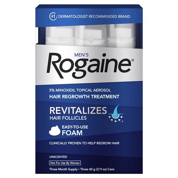 泡沫式男用落建 Rogaine 5% Minoxidil Extra Strength Foam--男性專用3瓶
